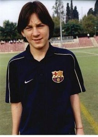 SIGNING OF MESSI IN THE BARCELONA QUARRY