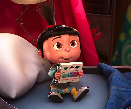 Gru  reads a bedtime story