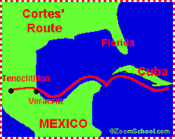 Hernan Cortes Sailed for Spain