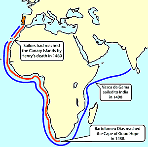 Prince Henry the Navigator sailed for Portugal