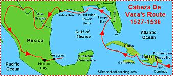 Alvar Nunez Cabeza de Vaca sailed for Spain
