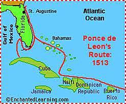 Juan Ponce de Leon Sailed for Spain