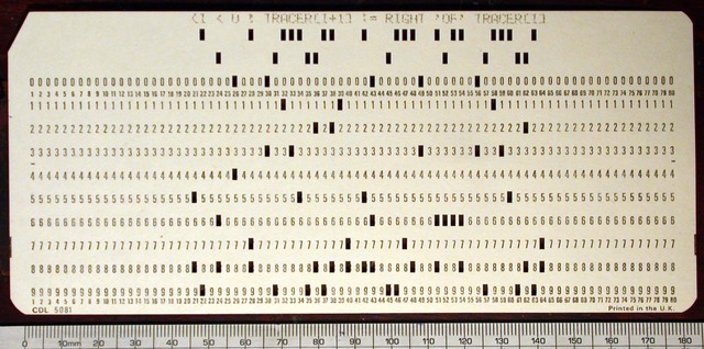 Punch Cards Used for Informatics