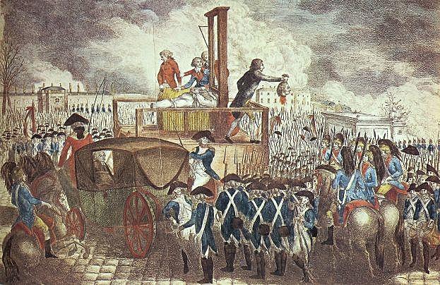 Luigi XVI condannato alla ghigliottina