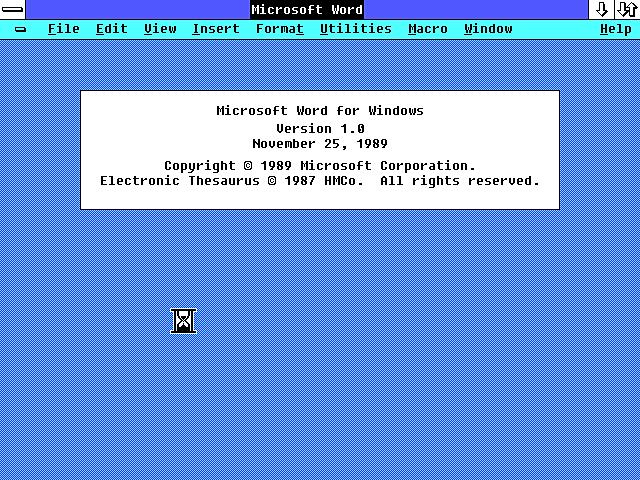 MICROSOFT WORD PARA WINDOWS 1.0