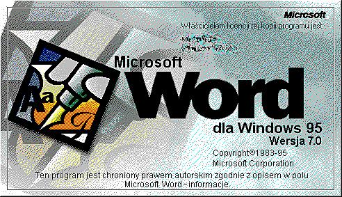MICROSOFT WORD WINDOWS 95