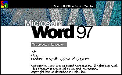 MICROSOFT WORD WINDOWS 97