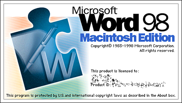 MICROSOFT WORD WINDOWS 98