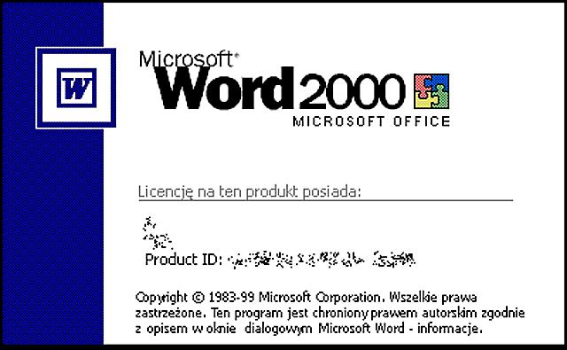 MICROSOFT WORD WINDOWS 2000