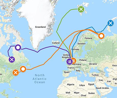 Henry Hudson Sailing for Dutch