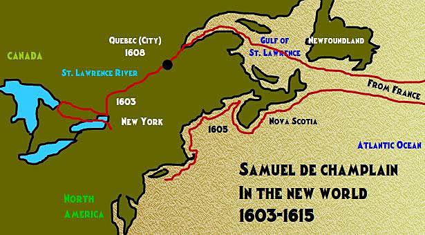 Samuel de Champlain Sailing for Canada and France