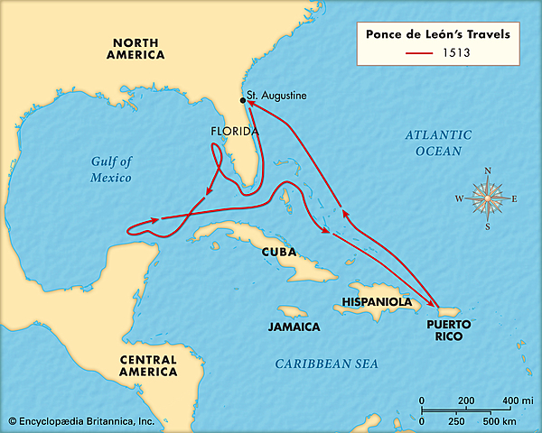 Juan Ponce de Leon Sailing for Europe