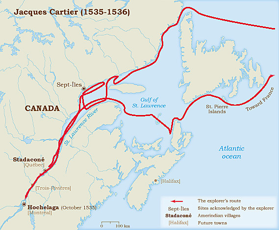 Jacques Cartier Sailed for France