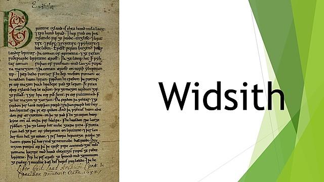 Widsith; Primitiva poesía anglosajona