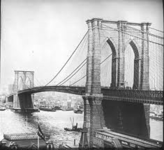 constuctionof the brooklyn bridge is completed