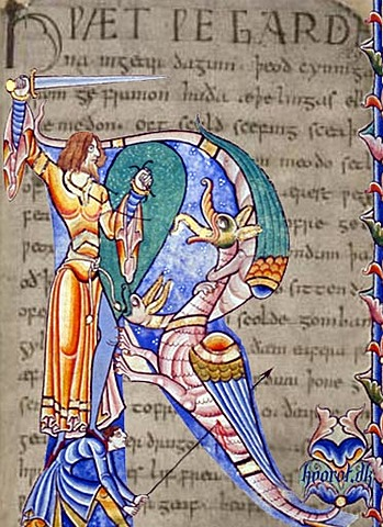 Beowulf, the first great work of Germanic literature