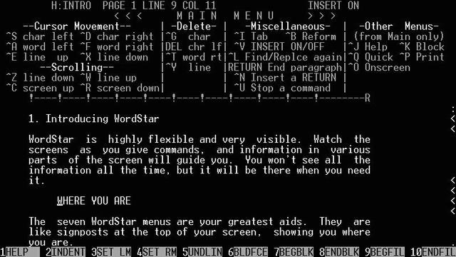 WordStar Software