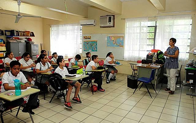 Primer día de clases en primaria.
