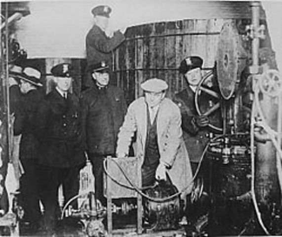 eighteenth amendment outlaws alcoholic beverages