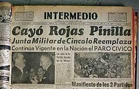 Pierde el poder el general Rojas Pinilla (EXTRALABORAL)