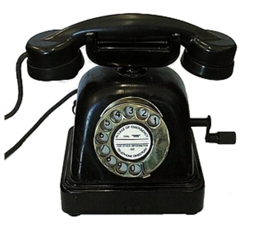 Aparece el primer telefono