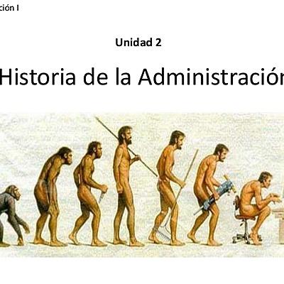 antecedentes e historia de la administración timeline