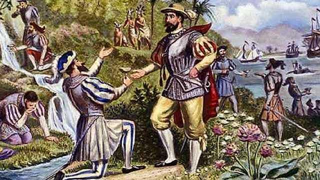 Juan Ponce de Leon explores Florida.