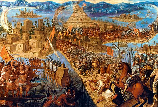 Hernan Cortes begins the Spanish conquest of the Aztec Empire.