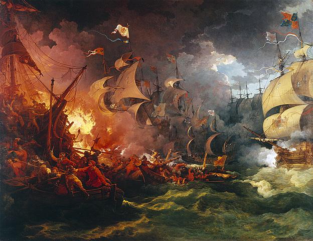 The English defeat the Spanish Armada.