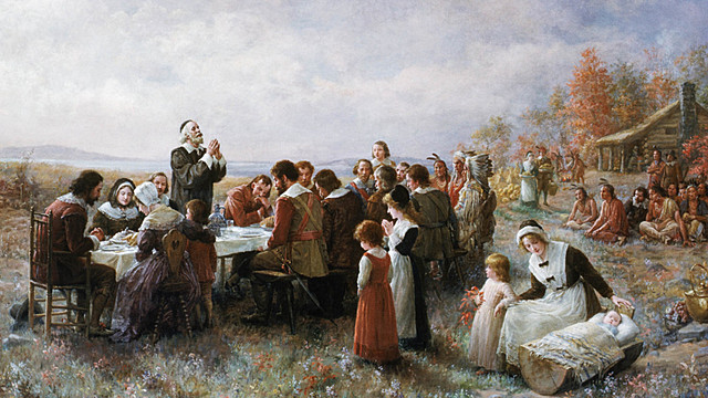 Plymouth colony is founded; Pilgrims agree to the Mayflower Compact.