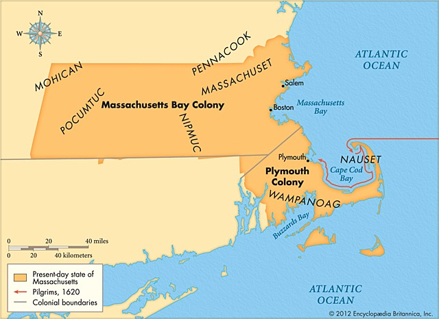 Massachusetts Bay Colony is founded.