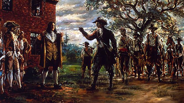 Bacon's Rebellion in Virginia.