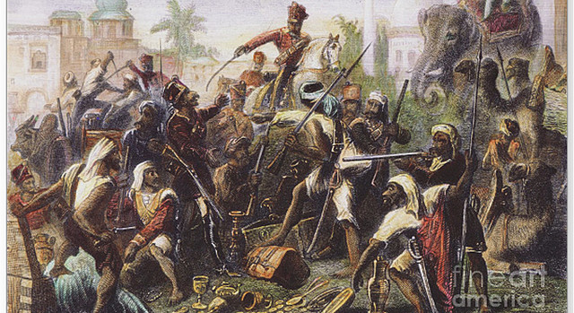 Indian uprising in Virginia.