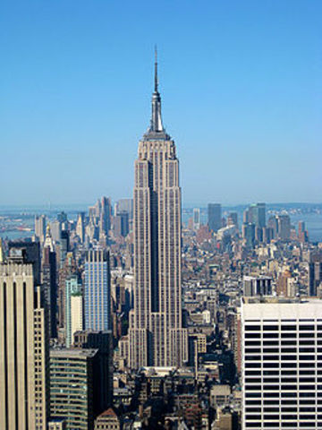 Empire State Building opens in New York City