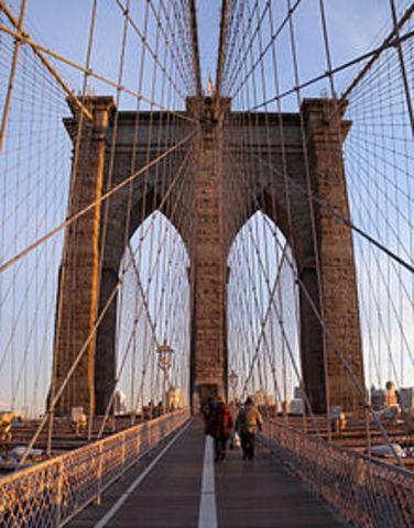 Brooklyn Bridge opens