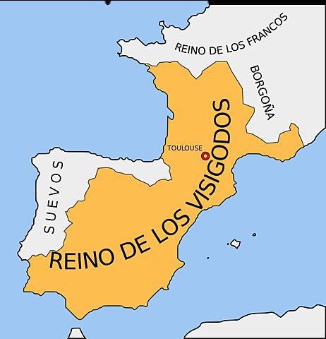 Reino visigodo con capital en Tolosa