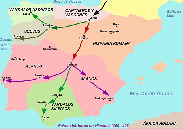 Invasión de Suevos, Alanos y Vándalos