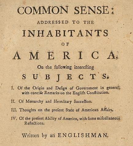 Publication of ¨Common Sense¨
