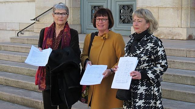 Remise de la pétition au maire de Chalon