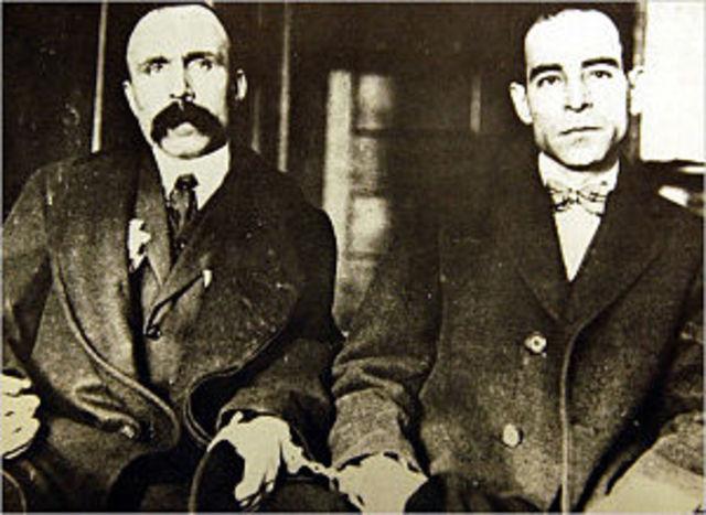 Sacco and Vanzetti arrested