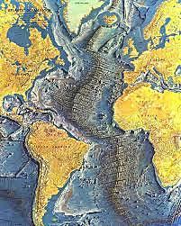 Maury, a la primera carta submarina de l'Atlàntic, proporciona evidències sobre l'existència de la dorsal meso-atlàntica