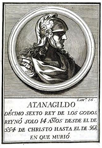 Reino visigodo de Toledo con Atanagildo