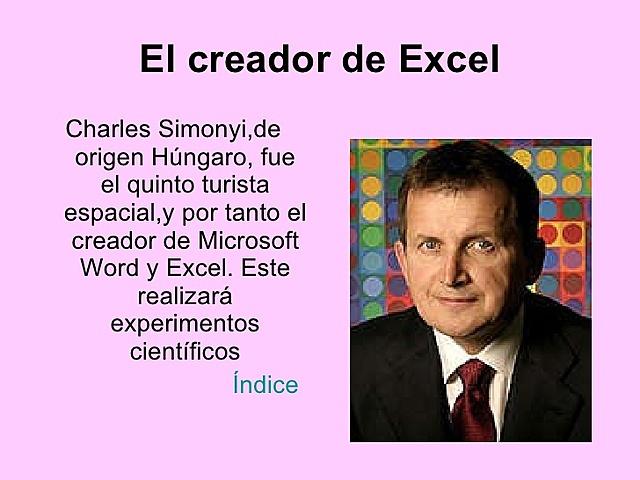 INVERNTOR DE MICROSOFT EXCEL