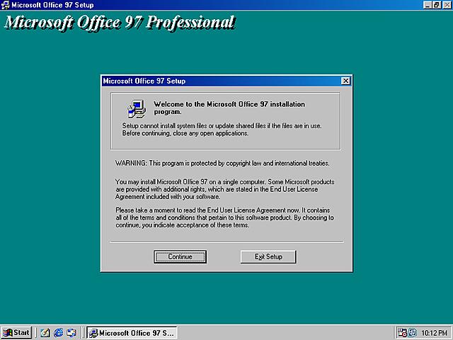 MICROSOFT OFFICE 97 (8.0)