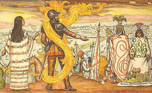La caida de Tenochtitlan