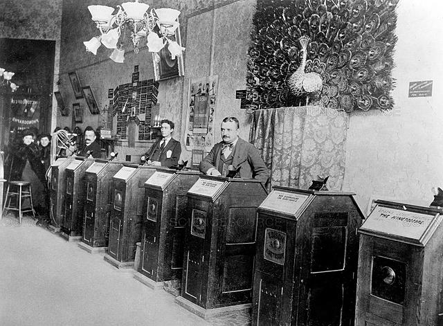 First Kinetoscope Parlor Opens in NYC