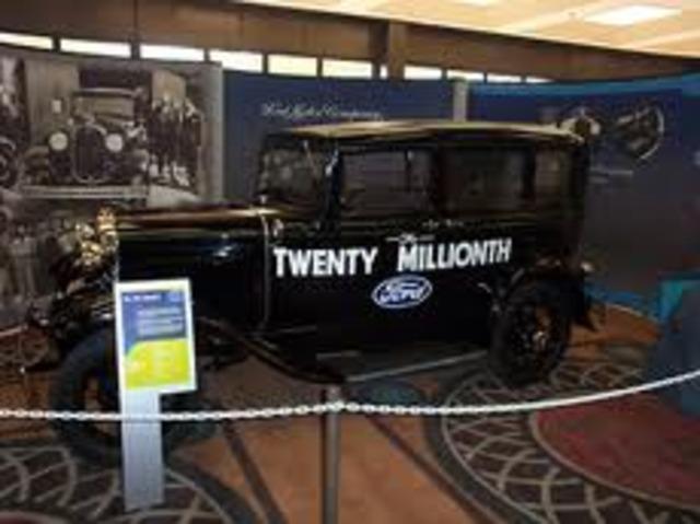 20 millionth car