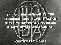 Hays (Production) Code established