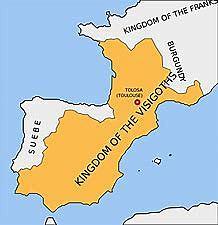 Reino visigodo con capital en Tolosa(408 )