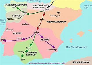 Invasión de Suevos, Alanos y Vándalos(500 )